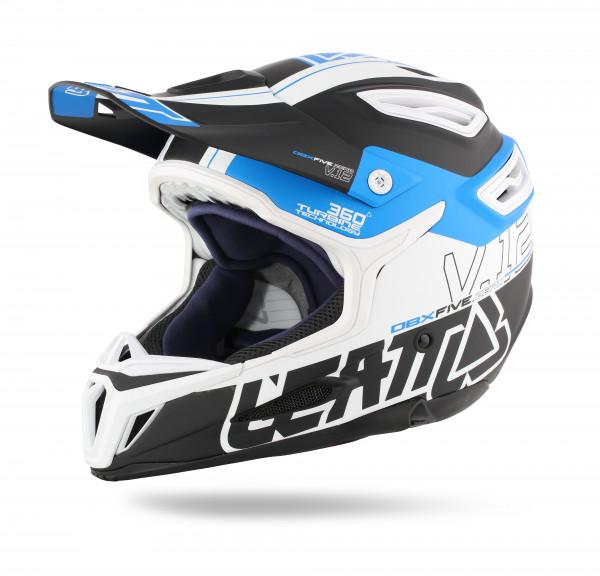 DBX 5.0 Composite Fullface Helm Black/Blue