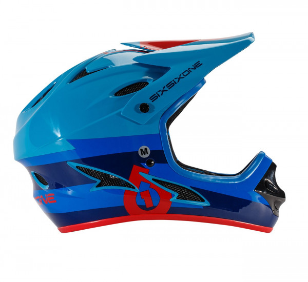 Comp Fullface Helm - red/blue