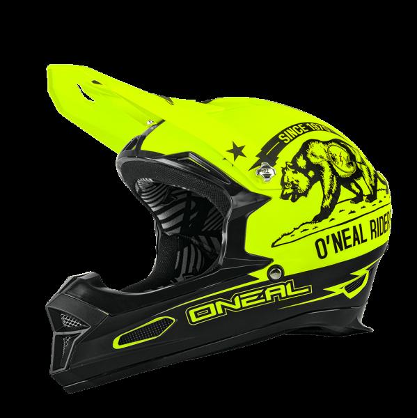 Fury RL California Helm - black/neon yellow