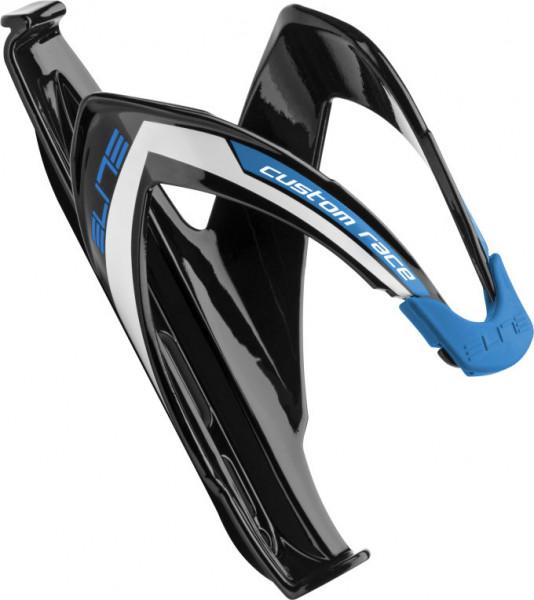 Custom Race Flaschenhalter - schwarz/blau glänzend