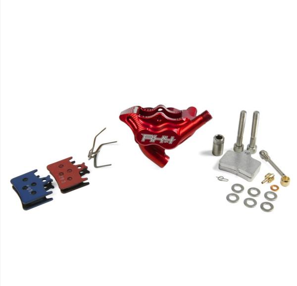 RX4 Bremssattel Flatmount Complete hinten - Sram - Rot