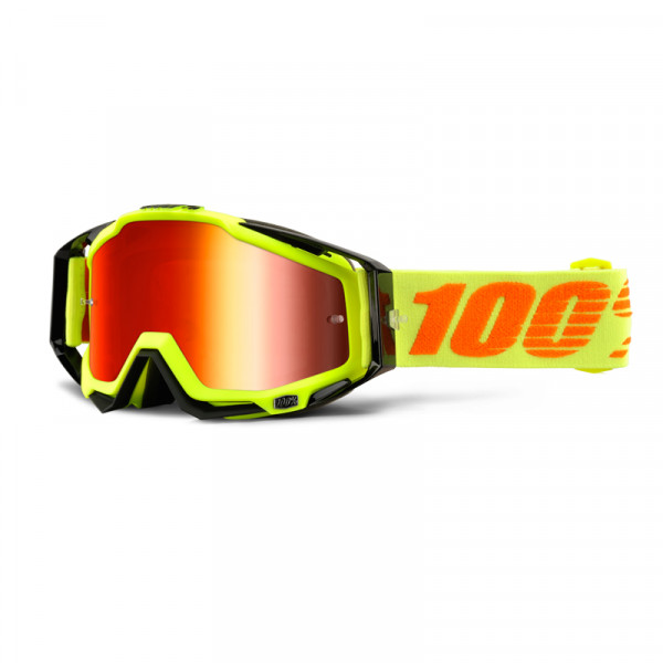 Racecraft Goggle Anti Fog Mirror Lens - Attack Yellow