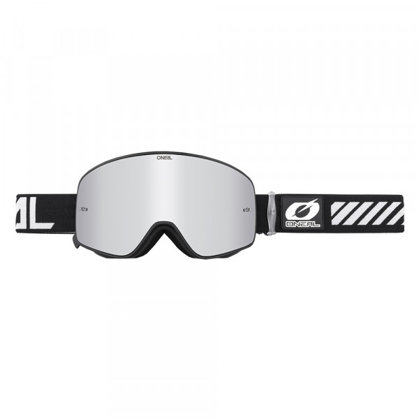 B50 Force Goggle - black - Glass mirror silver