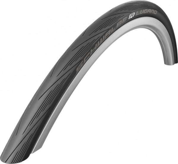 Lugano Reifen 28 Zoll Draht 25mm - schwarz Reflex