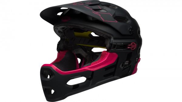 Super 3R Mips Helm - matte black/cherry