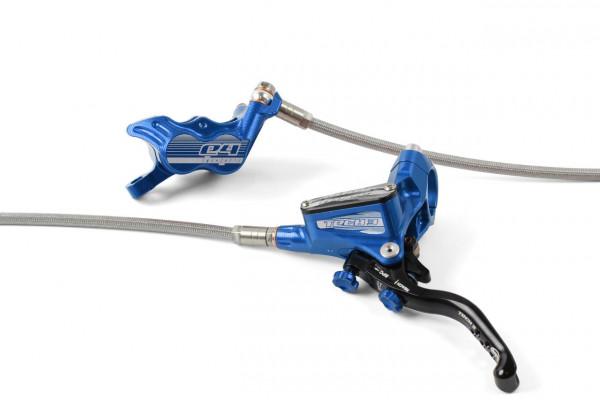 Tech 3 E4 Scheibenbremse Stahlflexleitung - blau