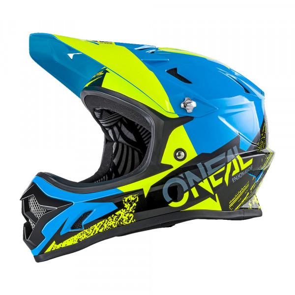 Backflip RL2 Burnout DH Helm - black/blue/neon yellow