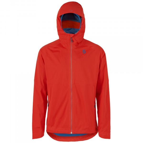 Trail Mtn Dryo Jacke - fiery red/seaport blue