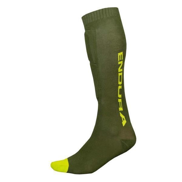 SingleTrack Schienbeinprotektoren Socken - Grün