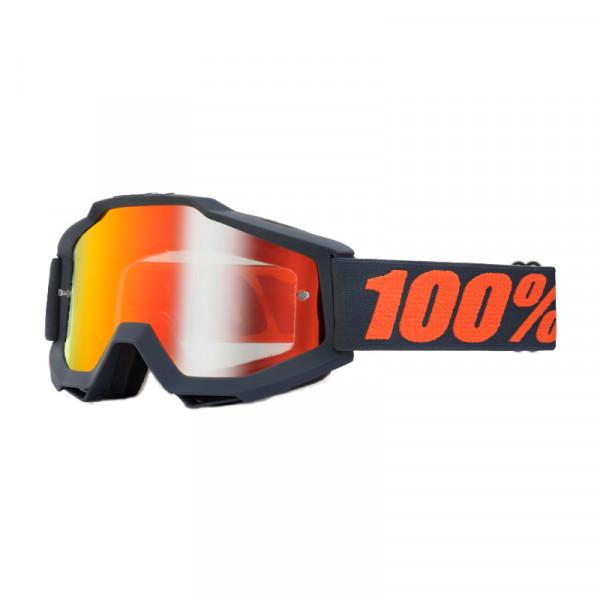 Accuri Goggle Anti Fog Mirror Lens - Gunmetal
