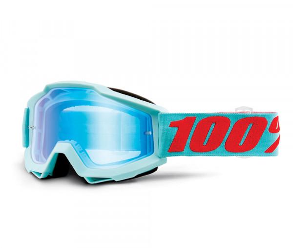 Accuri Goggle Anti Fog Mirror Blue Flash Lens - Maldives