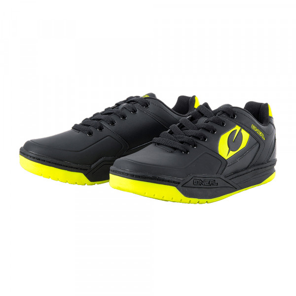 Pinned SPD Schuh - black/neon yellow