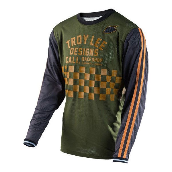 Super Retro Jersey Check - Army Green