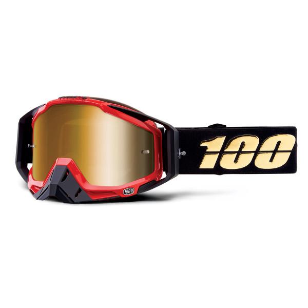 Racecraft Goggle Anti Fog Mirror Lens - Hot Rod