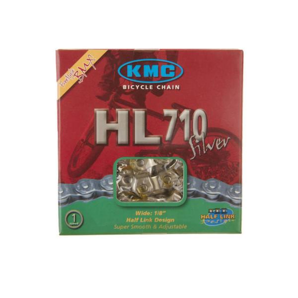 Kette BMX - KMC HL710 Halflink Kette - Silber