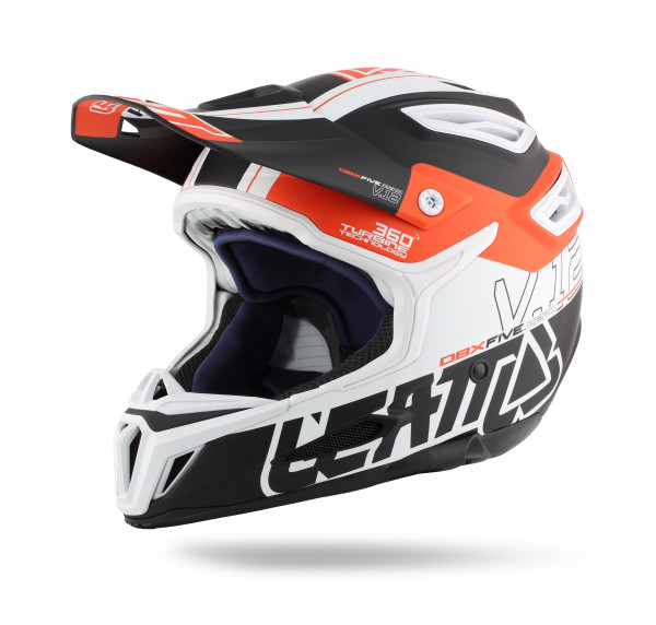 DBX 5.0 Composite Fullface Helm Black/Orange