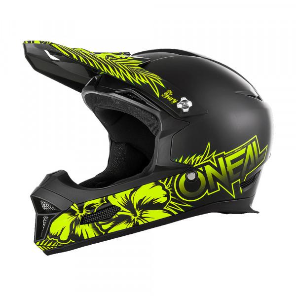 Fury RL Maui Helm - black/neon yellow