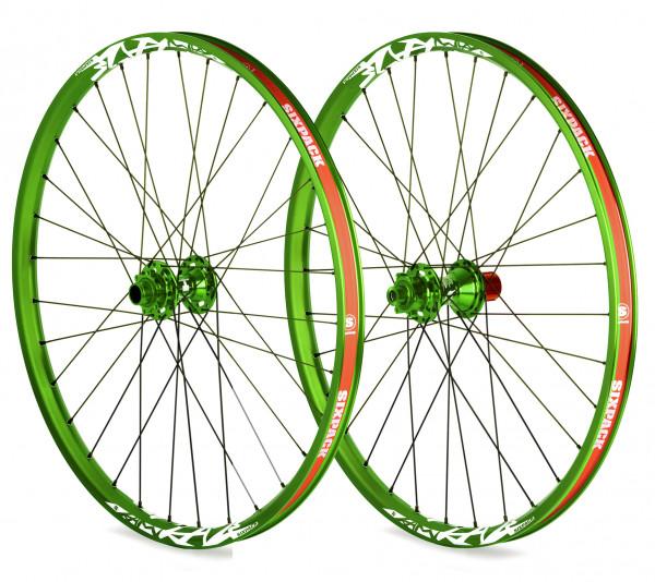 Vice DH Laufradsatz 26 Zoll 20/150mm - grün