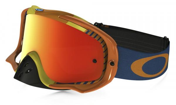 Crowbar MX Goggle - Biohazard Orange/Blue Fire Iridium