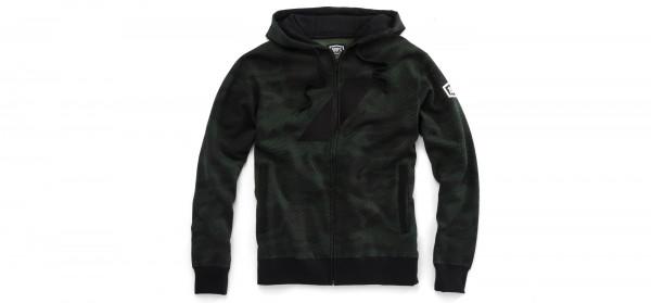 Brigade Full-Zip Hoody - Black/Green