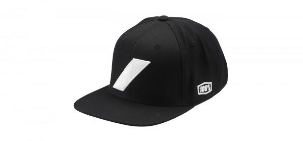 Slash Snapback Hat - Black