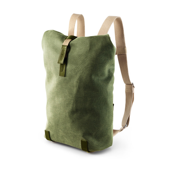 Pickwick Canvas Rucksack - small - hay green/olive