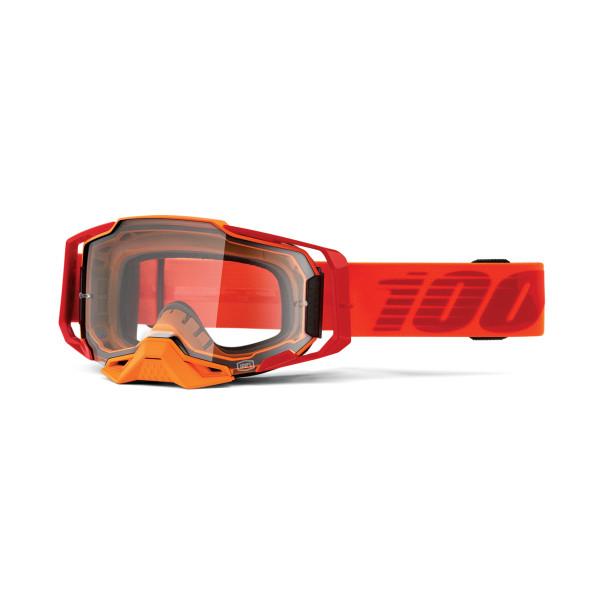 Armega Goggle Anti Fog - Orange/Rot - Klar