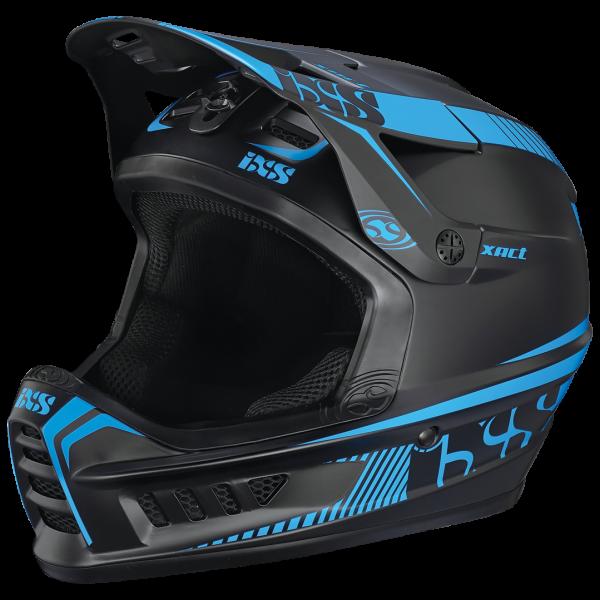 Xact Fullface Helm - black/fluor blue