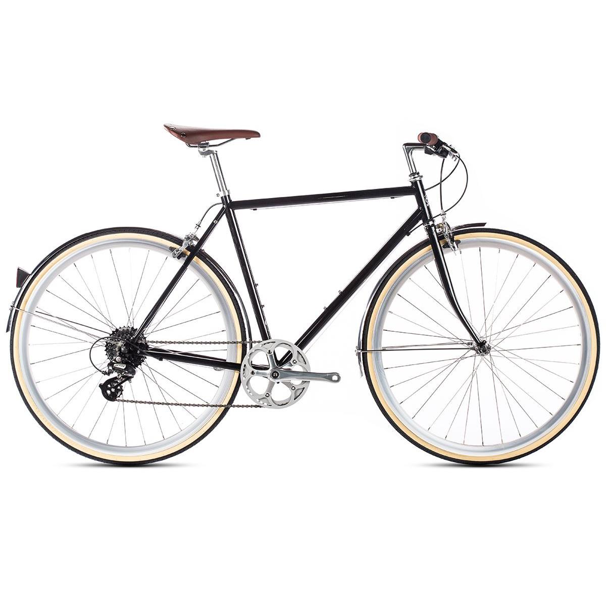 6ku delano city bike black online kaufen bmo bike mailorder. Black Bedroom Furniture Sets. Home Design Ideas