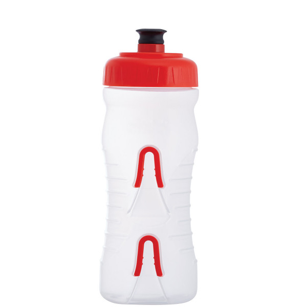 Cageless Trinkflasche - 600 ml - Klar/Rot