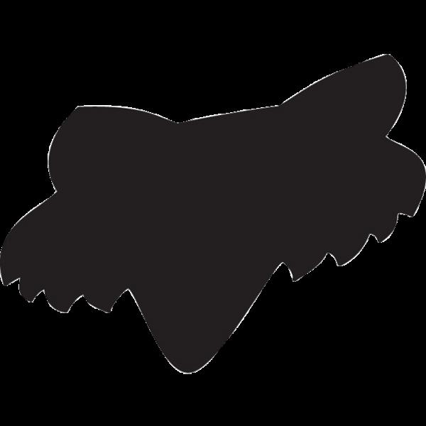 Fox Head Sticker - Black