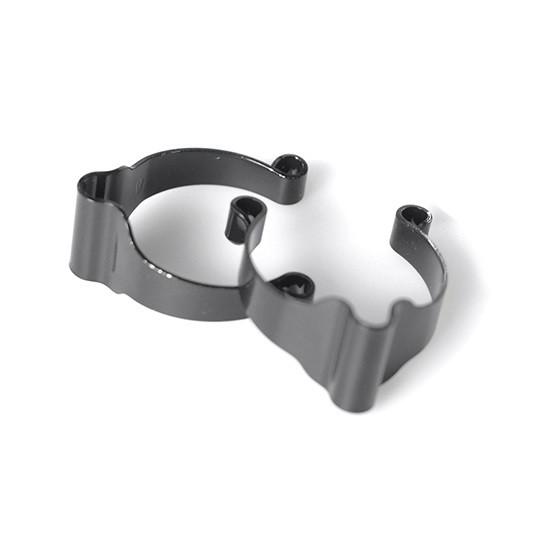 Rahmenklemmen für Bremsleitung - schwarz - 2 Stück