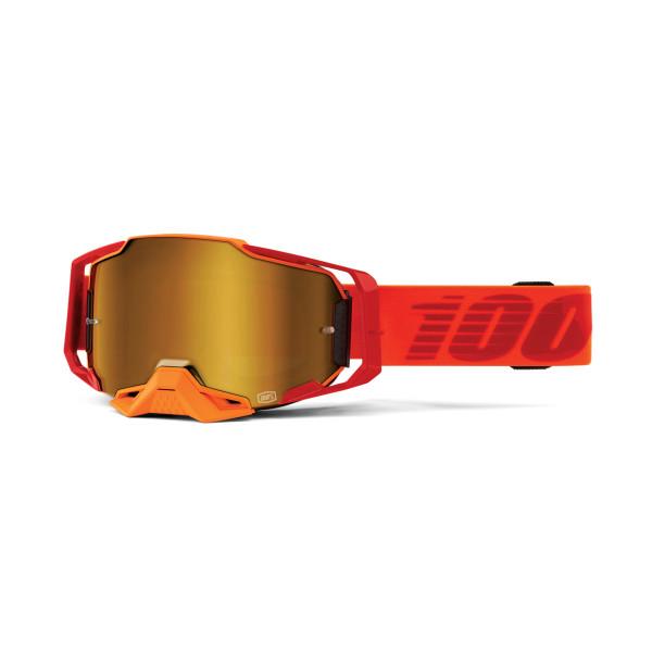 Armega Goggle Anti Fog - Rot/Orange - verspiegelt