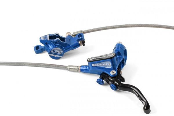 Tech 3 X2 Scheibenbremse Stahlflexleitung - blau