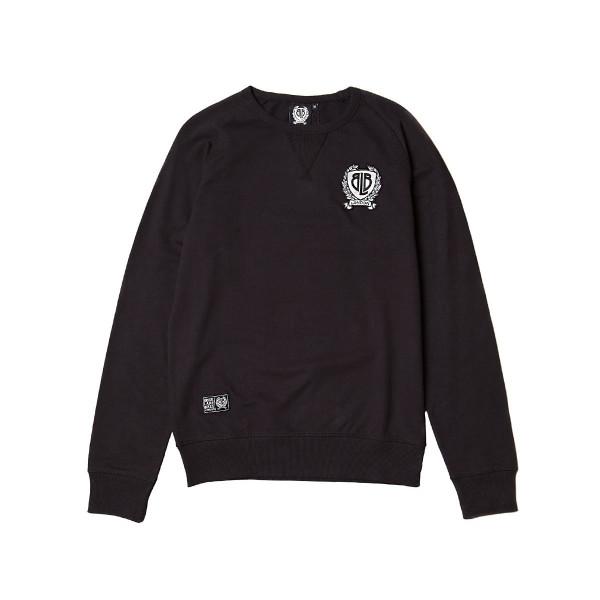 Badge Sweatshirt - schwarz