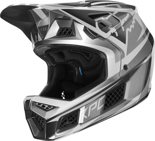 Rampage Pro Carbon Helm - Metallic Silber