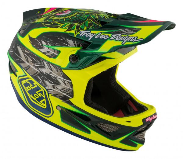 D3 Carbon MIPS Fullface Helm Nightfall Green