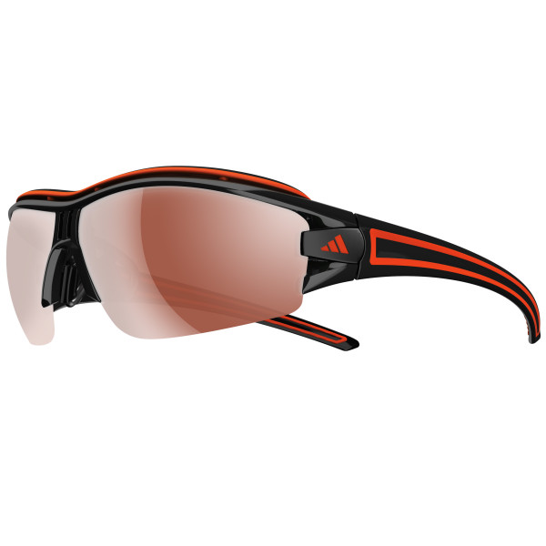 Evil Eye Halfrim Pro Sonnenbrille Shiny Black/Orange - L