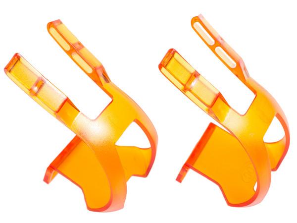 Toe Clip Plastic DB/DG Haken - orange transparent