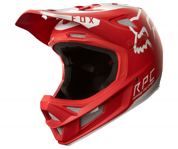 Rampage Pro Carbon Helm - Moth Red/White