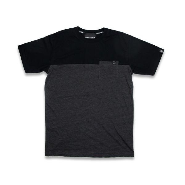 T-Shirt Two Tone - Grau/Schwarz