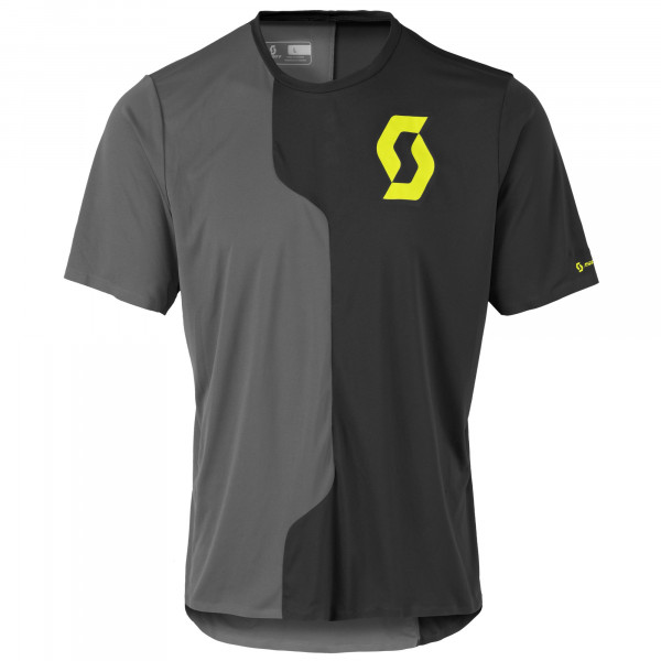 Trail Tech shortsleeve Shirt - black/dark grey