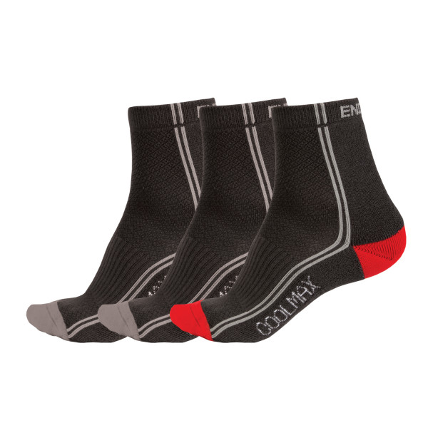 CoolMax® Stripe Socken (Triple) black