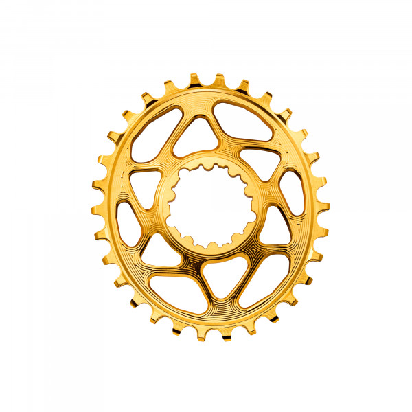 SRAM GXP Direct Mount Kettenblatt - Oval - 6 mm Offset - gold
