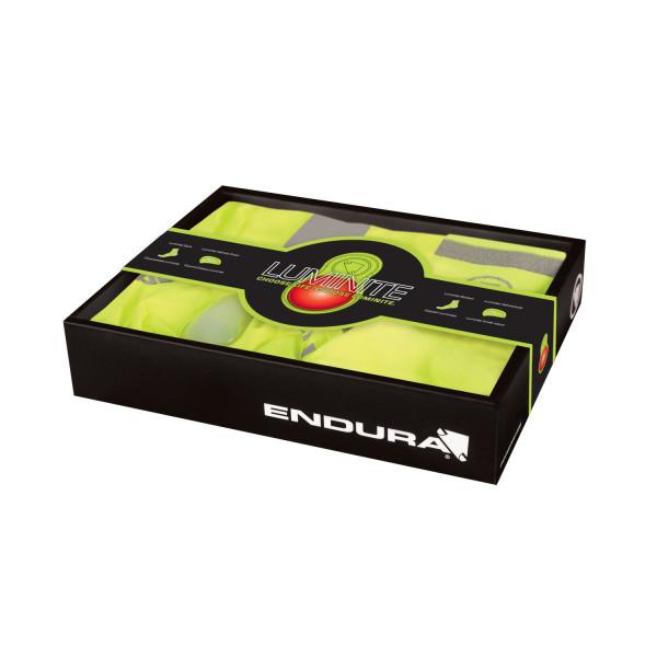 Luminite Geschenkbox Helmüberzug und Socken - neon gelb