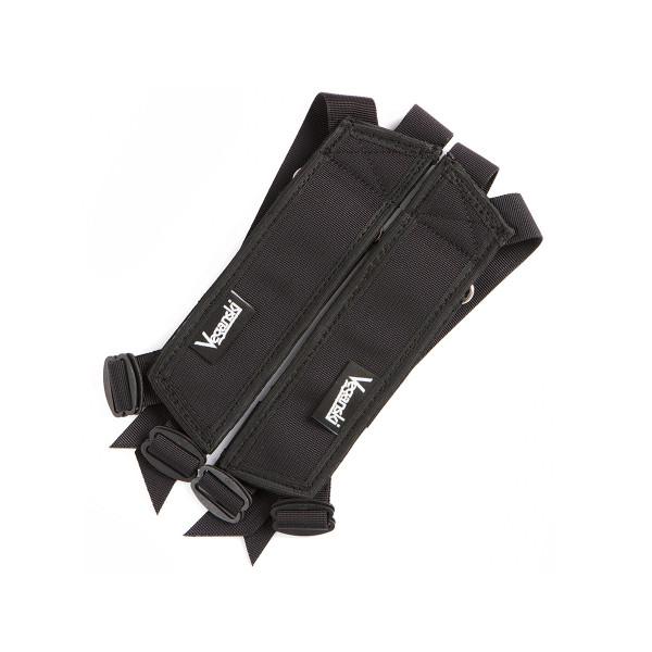 Metal Pedal Straps - black