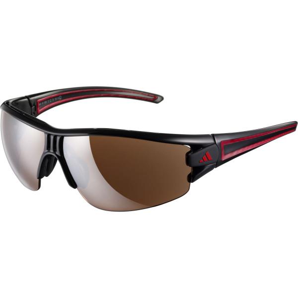Evil Eye Halfrim Sonnenbrille Matte Black Red Polarized - S