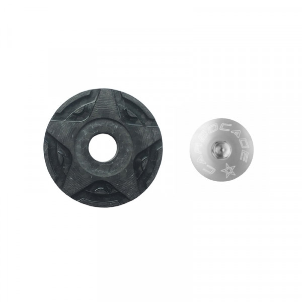 Top Cap Carbon 3D Aheadkappe - silber