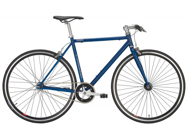 Forelle Blau Singlespeed Fixed Bike - blau/schwarz