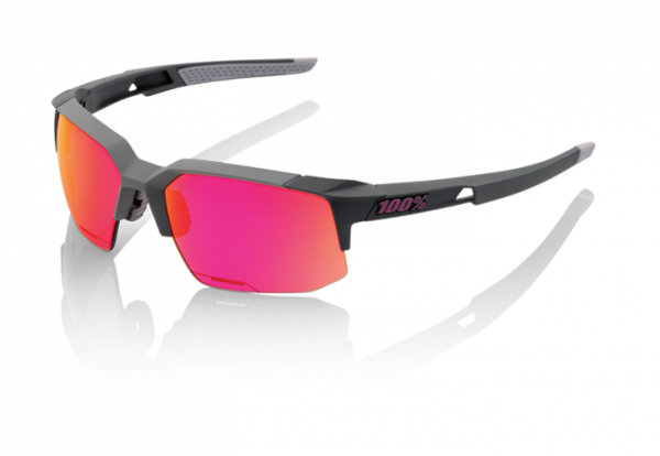 Speedcoupe Sportbrille - Purple Multilayer Mirror Lens - Soft Tact Graphite